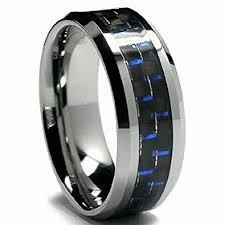 carbon fiber wedding band blue black carbon fiber tungsten carbide men s women s wedding