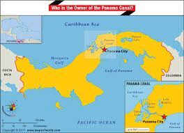 location canap map of panama highlighting the location of panama canal answers