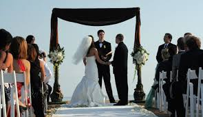 wedding arches square black brown ivory white altar arch arrangements outdoor ceremony