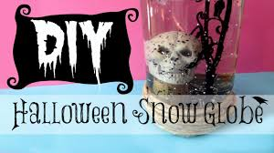diy halloween decorating skull snow globe michele baratta