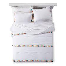 Target Black And White Comforter Tassel Comforter Set White Pillowfort Target