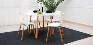 eiffel dining table 100cm arctic white retroeurope com