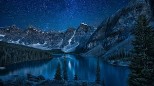 nature lake reflections wallpapers canada nature lake mountain trees forest stars landscape