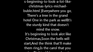 michael buble its beginning to look alot like christmas with
