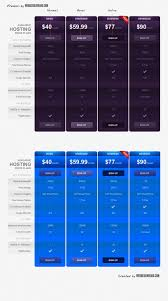 11 best free pricing table u2013 design freebies