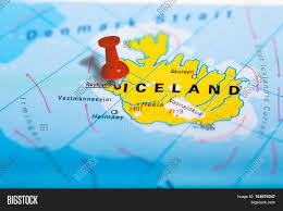 Iceland Map World Reykjavik In Iceland Pinned On Colorful Political Map Of Europe