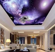 wall theme salon club cafe villa theme ceiling sky cherry decor home 3d wall