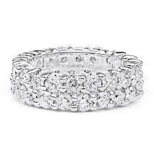 eternity ring band diamond eternity ring in 14k white gold 4 30ct