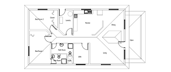 single story house plan small house plan free with pdf and cad file