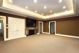 basement remodel tv room paint colors wall color ideas concrete
