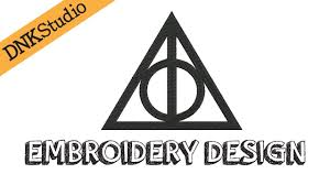 deathly hallows harry potter embroidery design youtube