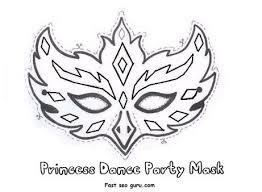 printable princess dance party mask cutouts coloring mask