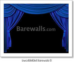 Bright Blue Curtains Print Of Bright Blue Stage Curtains Barewalls Posters