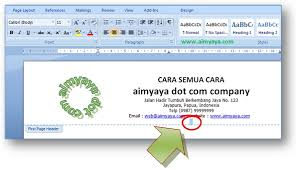 Membuat Kop Surat Organisasi   cara membuat kop surat di microsoft word cara aimyaya cara semua