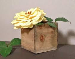 wooden planter etsy