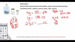 Gallon Worksheet Measurement Conversion Practice Problems Cups Gallons 5th