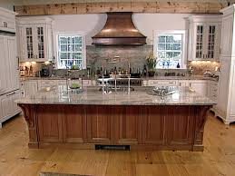 interior large wood kitchen island with wooden flooring and wood