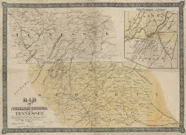 Chattanooga Tennessee Map by Map Of Northern Georgia And Tennessee Shades Of Gray And Blue