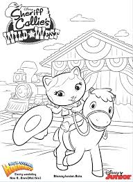 sheriff callie colouring page disney junior indonesia