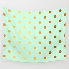 mint green pantone gold polka dots on mint background luxury greenery pantone