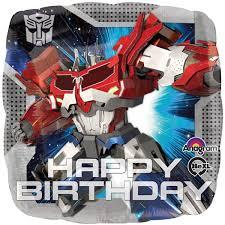 transformers birthday transformers happy birthday foil balloon