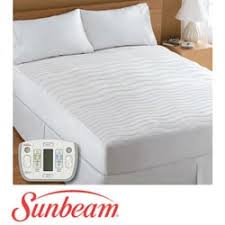 sunbeam therapeutic king size electric heated zone mattress pad