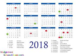 Calendario Diciembre 2018 Calendario 2018 2 Imagenes Educativas