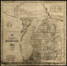 A Map Of Michigan by Old Map Of Michigan Michigan Map