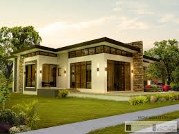 modern bungalow house designs and floor plans for small homes 8