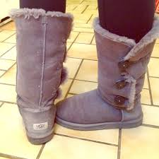 ugg womens roslynn boots amazon ugg sold bailey button gray uggs from s closet on
