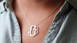 sterling silver monogram necklace 925 sterling silver monogram necklace 3 letters