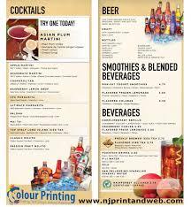 restaurants with light menus print restaurant menu that increase sales full color glossy menus