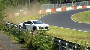 Audi R8 Drift - watch this audi r8 nearly crash at the nürburgring the drive
