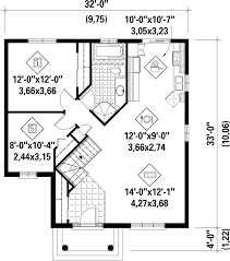 1950s Bungalow Floor Plan Classical Style House Plan 2 Beds 1 00 Baths 984 Sq Ft Plan 25 4642