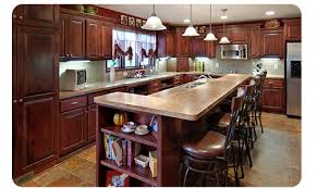 kitchen contractors island remodel in mn features large island with storage and sink new