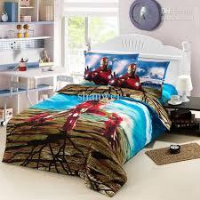 Kids Bedding Set For Boys by Cool Iron Man Ironman Boys Cartoon Kid Duvet Cover Sheet Set