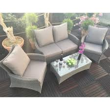 rattan lounge sofa deluxe 4pc rattan lounge sofa set with coffee table