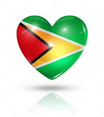 Guyana Flag Love Guyana Heart Flag Icon U2014 Stock Photo Daboost 33054751