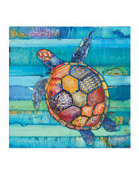 honu hawaiian honu sea turtle art print or canvas vintage coastal