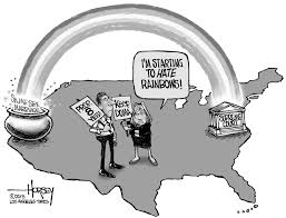 editorial cartoon hating rainbows the columbian