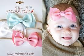 s headbands baby ribbon bows on headbands robin brand large