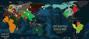 Sattelite World Map by A World Map With Independent Satellite States Civbattleroyale