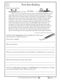 4th grade 5th grade reading writing worksheets finding key