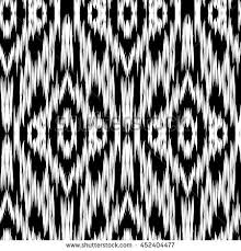 seamless ikat pattern abstract black white stock vector 452404477