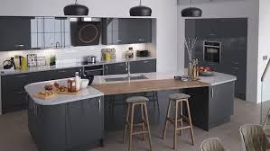 cuisine gris laque 1001 idées déco cuisine gris et blanc sobre et efficace