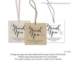 Thank You Tags Wedding Favors Templates by Modern Thank You Tags Wedding Favor Thank You Tags Diy