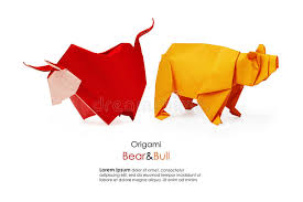 Origami Pets - and bull origami stock photo image of pets business 56657004