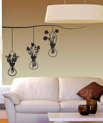 vinyl wall decal sticker hanging flower vases os dc671
