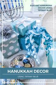 french blue and white holiday table setting with toile elegant hanukkah decor using tiffany blue designthusiasm com