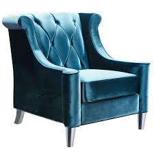 Blue Velvet Accent Chair Barrister Blue Velvet Button Tufted Accent Chair Free Shipping